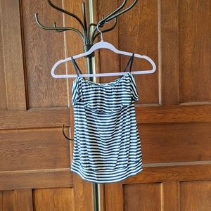 Old Navy Striped Strapless Top Navy White
